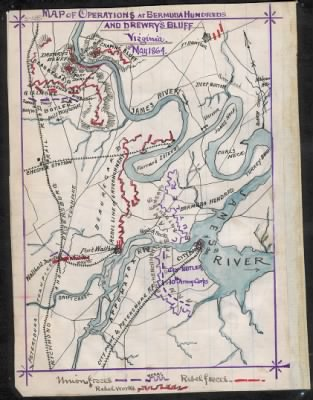 Map of operations at Bermuda Hundred and Drewry's Bluff, Virginia, 10th May 1864. › Page 1 - Fold3.com
